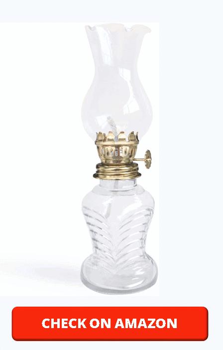 Oil Lamp, NeeFoor Glass Kerosene Lamp Lantern Retro Nostalgia Chamber Lamplight with Wick (Clear)