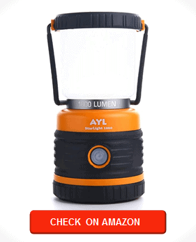 AYL LED Camping Lantern, Battery Powered LED with 1800LM, 4 Light Modes, Perfect Lantern Flashlight for Hurricane, Emergency Light, Storm, Power Outages, Survival Kits