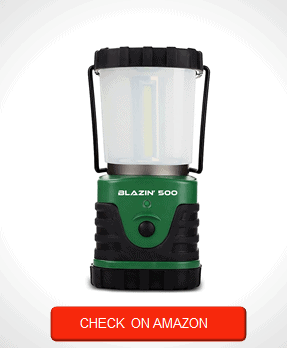 Blazin Brightest LED Camping & Hurricane Lantern - Battery Operated - 500 Lumen - Runs Up to Six Days Continuously