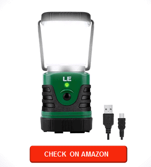 LE LED Camping Lantern Rechargeable, 1000LM, 4 Light Modes, 4400mAh Power Bank, IP44 Waterproof, Perfect Lantern Flashlight for Hurricane Emergency