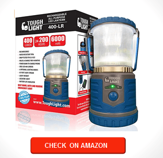 Tough Light LED Rechargeable Lantern - 200 Hours of Light from a Single Charge, Longest Lasting on Amazon! Camping and Emergency Light
