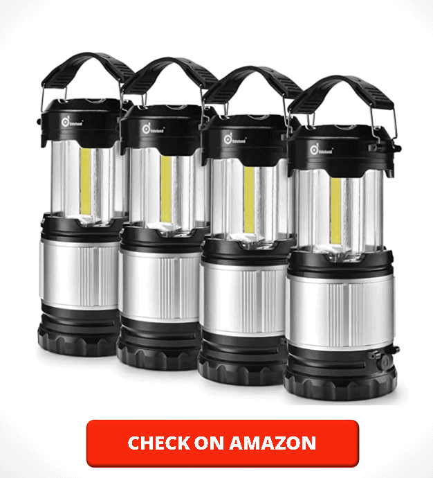 Odoland 4 Pack LED Lantern, 2-in-1 300 Lumen LED Camping Lantern Handheld Flashlights, Camping Gear Equipment for Outdoor Hiking, Camping Supplies, Emergencies, Hurricanes, Outages