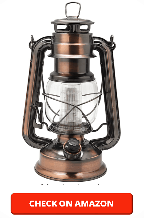 YAKii Vintage Style 12-LED Metal Hurricane Lantern