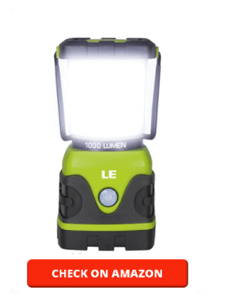 LE LED Camping Lantern, Battery Powered LED with 1000LM, 4 Light Modes, Waterproof Tent