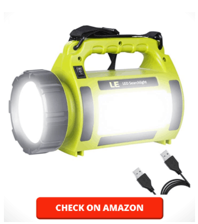 LE Rechargeable LED Camping Lantern, 1000LM, 5 Light Modes, 3600mAh Power Bank, IPX4