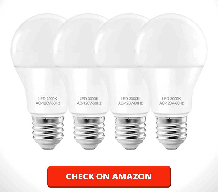 Led Lightbulbs 60w Soft White A19 Led Bulb ,E26 Standard Base Base,60w Equivalent led Light Bulbs,for Desk Floor Lamp Etc,Non-dimmable 4 Pack