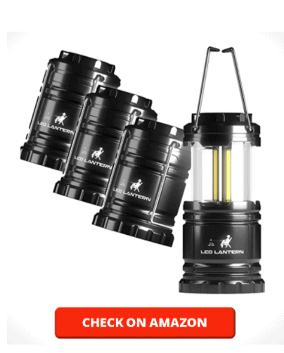 MalloMe LED Camping Lantern Flashlights - Super Bright Lumen Portable Outdoor Emergency Lamp Lights